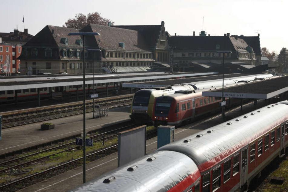 Der Lindauer Hauptbahnhof.