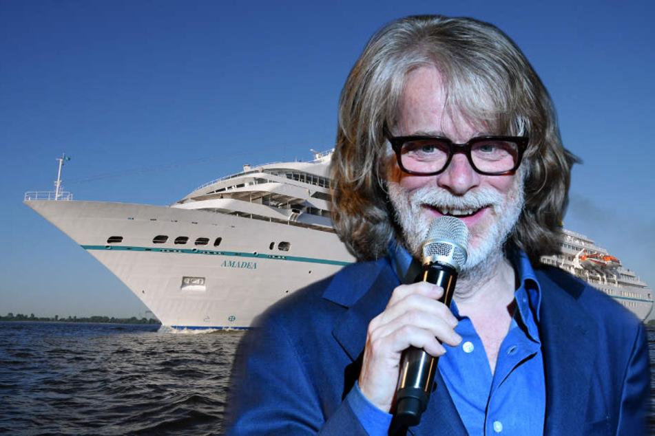 """Eigentlich hat Helge Schneider (63) ja Angst vor dem Meer. Die Rolle des Kapitäns auf dem """"Traumschiff"""" scheint es ihm allerdings angetan zu haben."""