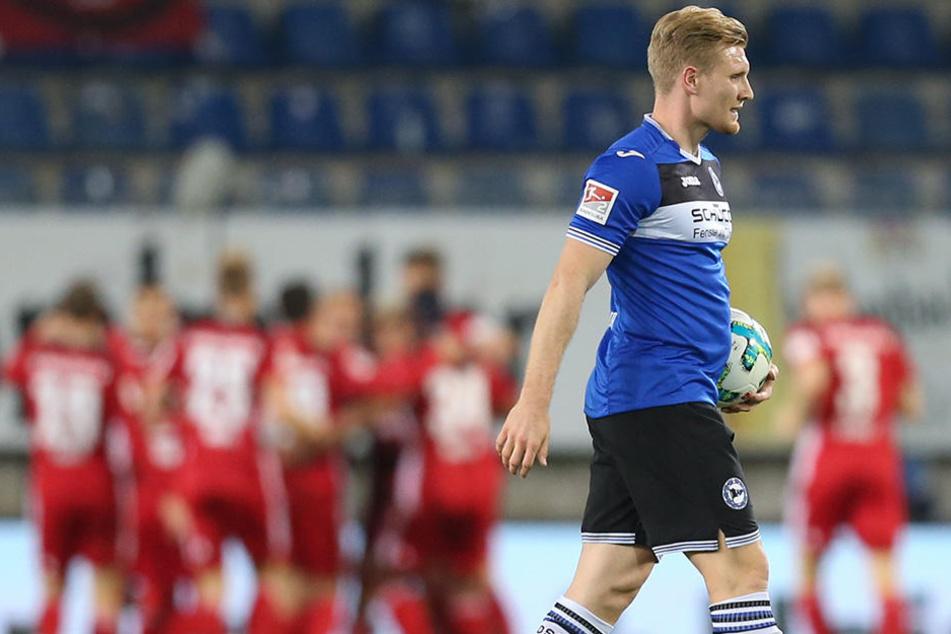 Andreas Voglsammer (25) ist mit acht Treffern bester Torjäger von Arminia Bielefeld.