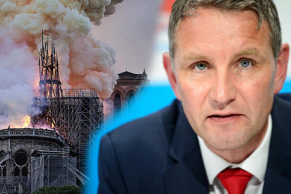 Björn Höcke leistet sich Fehler in Notre-Dame-Post und das Internet lacht sich kaputt