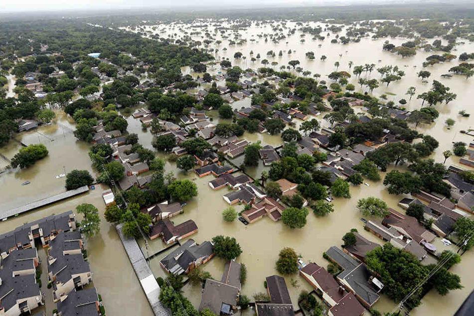 Ende August: Houston steht etwa einen Meter unter Wasser.