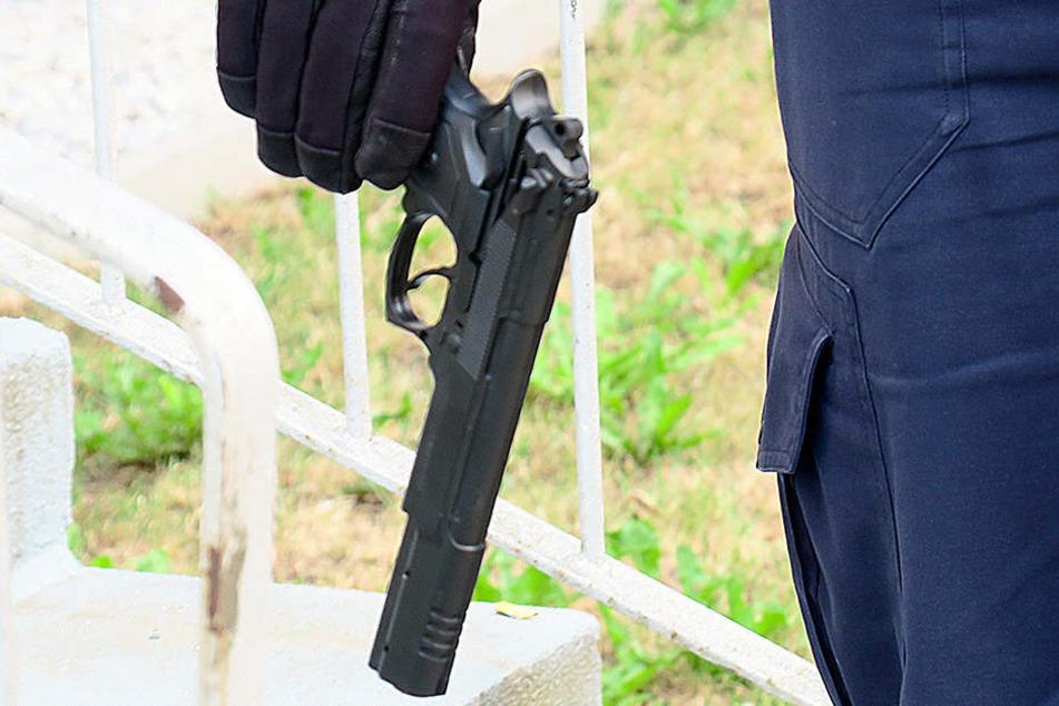 Diese Pistole sorgte auf dem Sonnenberg für große Aufregung.
