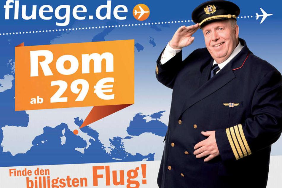 Fußball-Ikone Reiner Calmund (70) war mal Werbegesicht für das Reiseportal fluege.de.