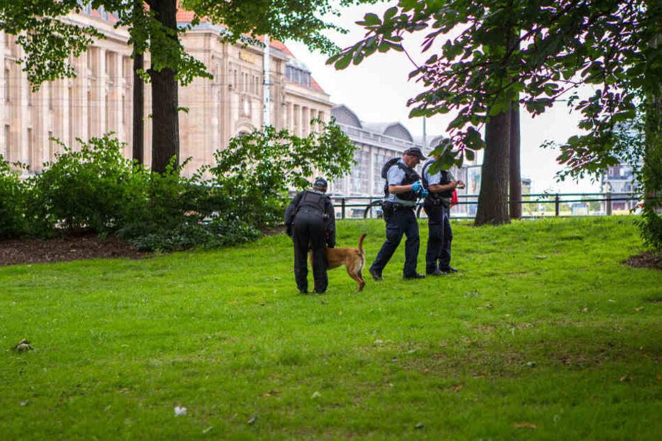 Das Gebiet um den Schwanenteich zwischen Oper und Hauptbahnhof gilt es Drogen-Hotspot. Immer wieder wird hier durch die Polizei kontrolliert.