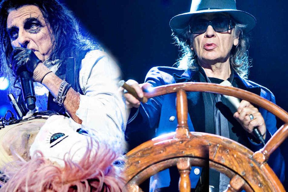 Udo Lindenberg rockt mit Alice Cooper die Bühne