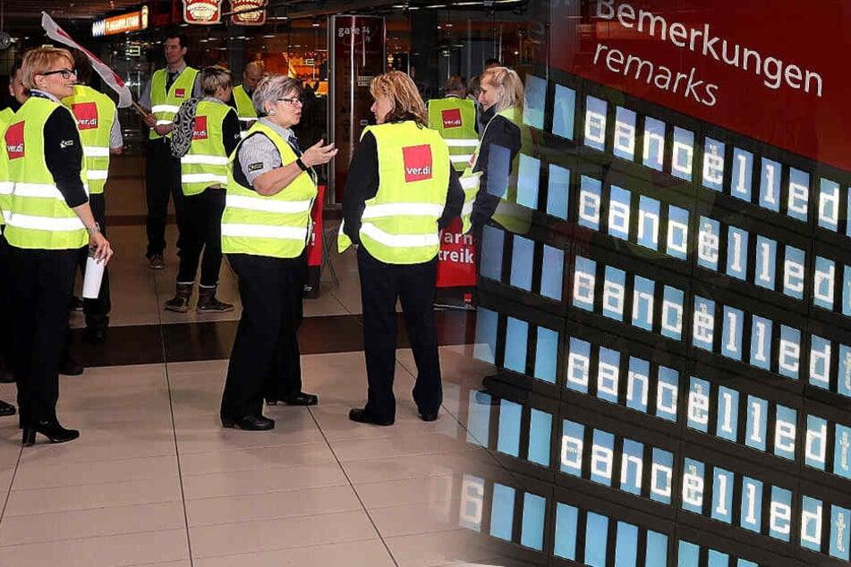 54 Verbindungen fallen aus! Heute Warnstreiks an sächsischen Flughäfen