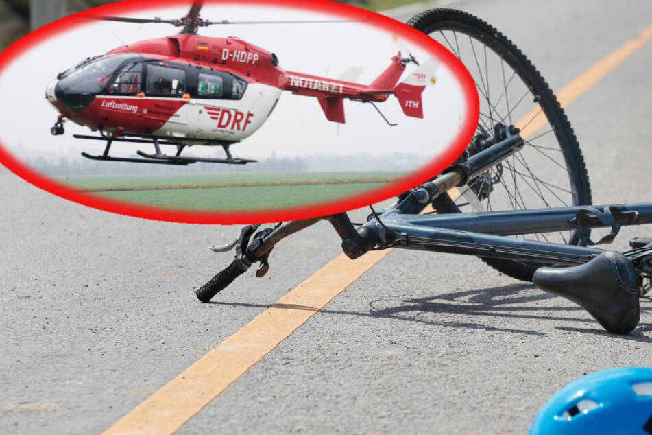 Der Mann musste mit einem Rettungs-Hubschrauber in ein Krankenhaus geflogen werden.
