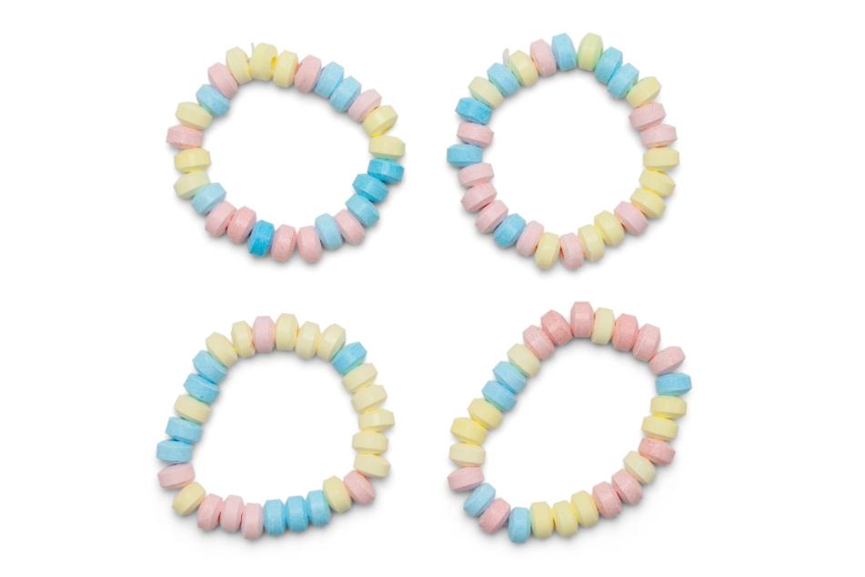 Die Candy-Kette gibt's auch heute noch vor allem auf Jahrmärkten zu kaufen.