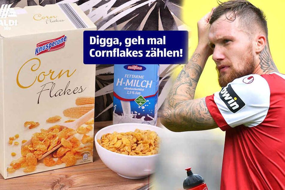 """So witzig vermarktet Aldi den """"Cornflakes""""-Ausraster von Profi-Fußballer"""