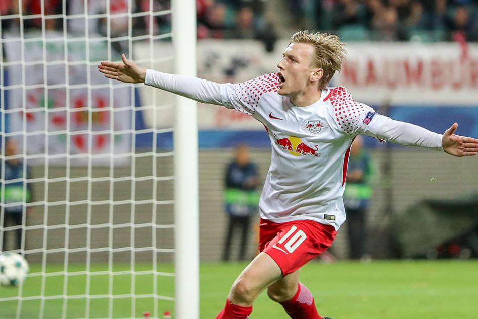 Emil Forsbergs schwedischer Ex-Klub steckt in finanziellen Schwierigkeiten. Die könnten überwunden werden, würde Forsberg für eine Millionensumme ins Ausland wechseln.