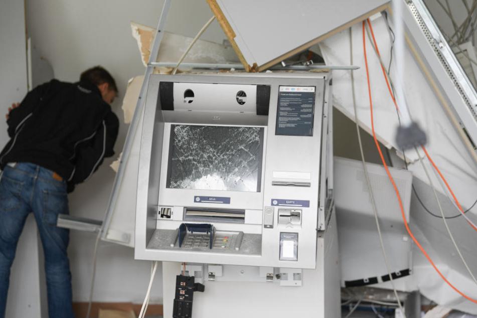 Ein Geldautomat in Rodgau Nieder-Roden wurde im Juni völlig zerstört.