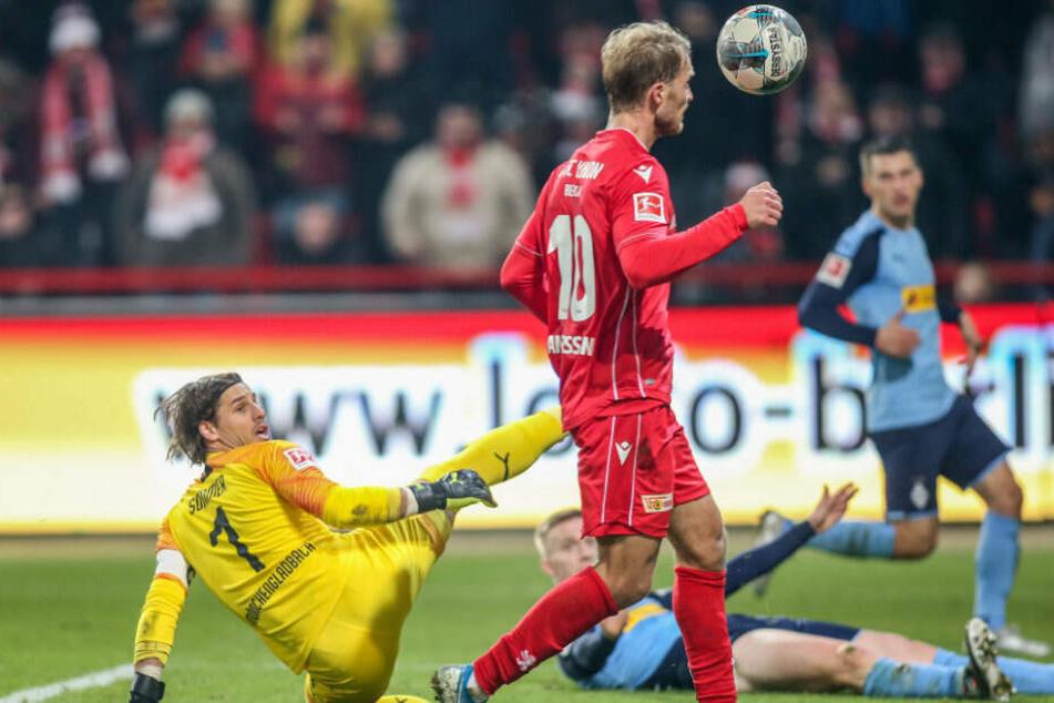 Unions Sebastian Andersson trifft zum 2:0-