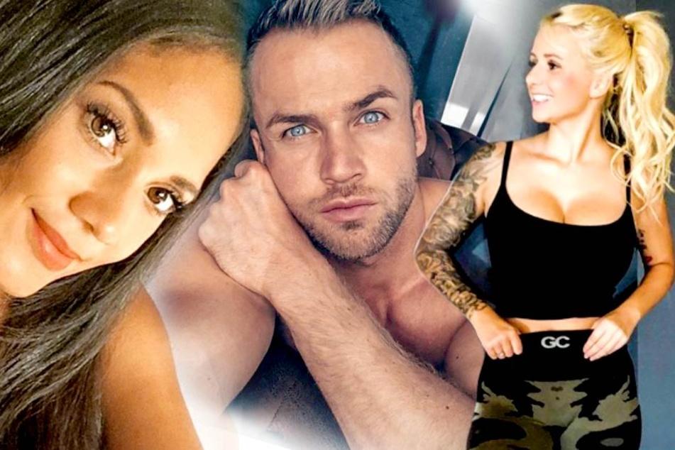 """Hinter Pams (28, l.) Rücken: Hatte Philipp Stehler (30) bei """"Bachelor in Paradise"""" etwa was mit Carina Spack (21)?"""