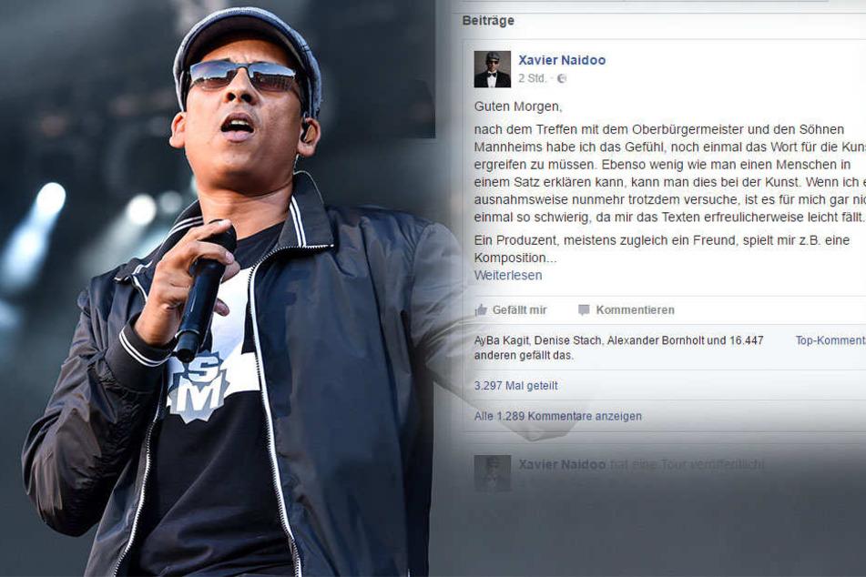 Skandal-Song: Xavier Naidoo fühlt sich missverstanden