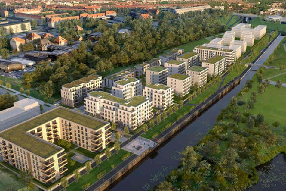 So soll der Lindenauer Hafen 2020 aussehen.