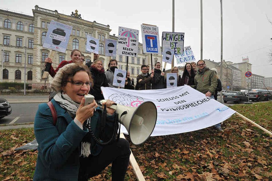 Katharina Loch führt die Proteste an.