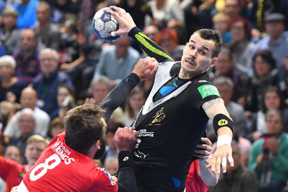 Roman Becvar vergangene Saison noch im Dresdner Trikot in Aktion. Kann er morgen spielen?