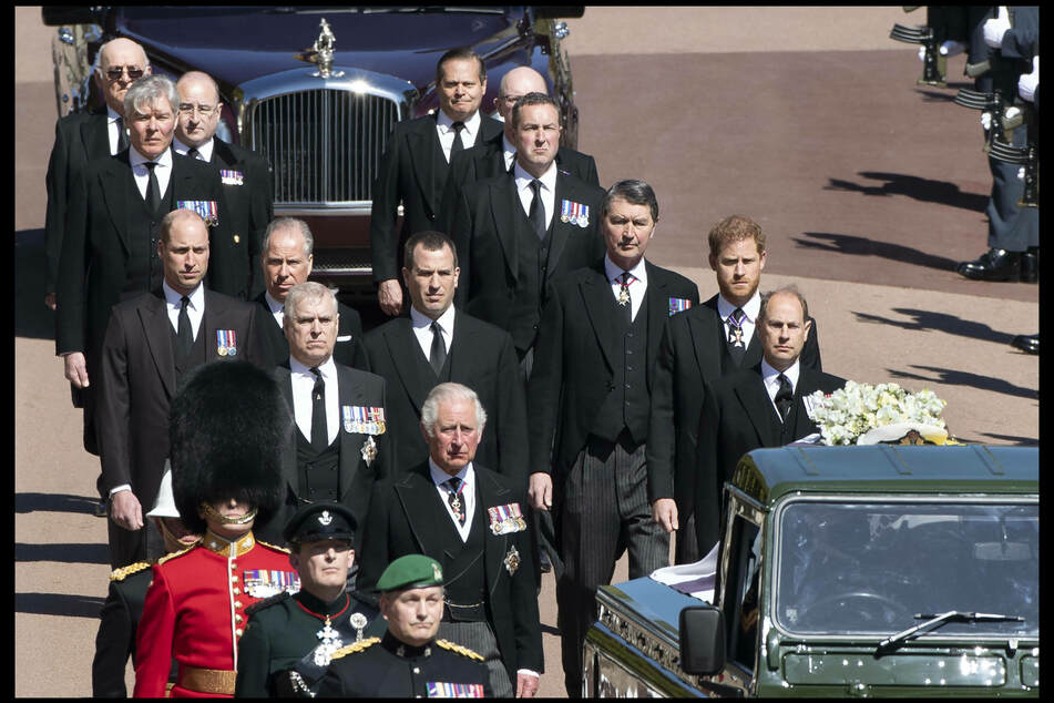 The procession to the chapel at Windsor castle, where Prince Philip was interred.