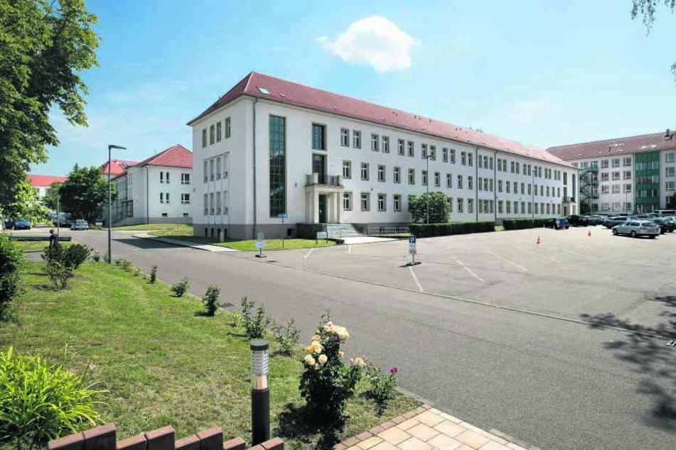 Bislang galt dieses Gebäude bei der Bereitschaftspolizei in Leipzig als  künftiger Standort des Abhörzentrums.