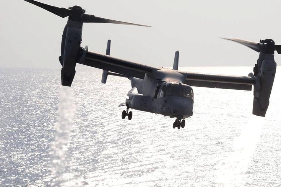 """Der sogenannte """"Fischadler"""" kann wie ein Helikopter aus dem Stand starten. Durch ein Kippen der Rotoren kann die Maschine mit der Geschwindigkeit eines Flugzeugs geradeaus fliegen (Symbolbild)."""