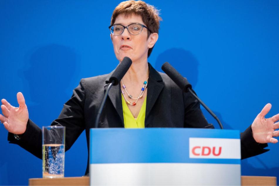 Annegret Kramp-Karrenbauer (56) anlässlich ihrer Kandidatur zur CDU-Partei-Chefin in Berlin.