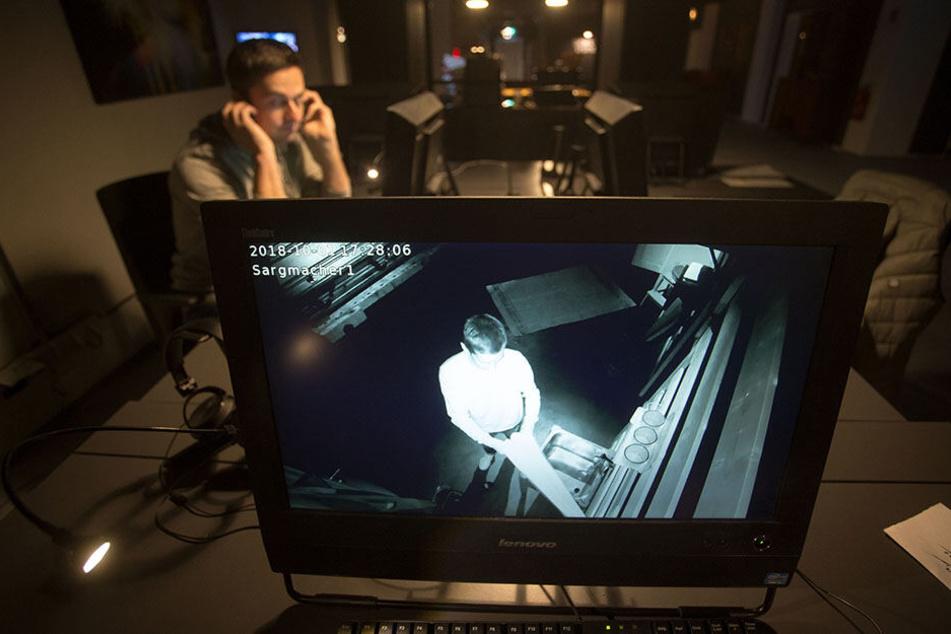 """Bei """"exit Sachsen"""" werden die Spieler permanent videoüberwacht - so kann jederzeit eingegriffen werden."""