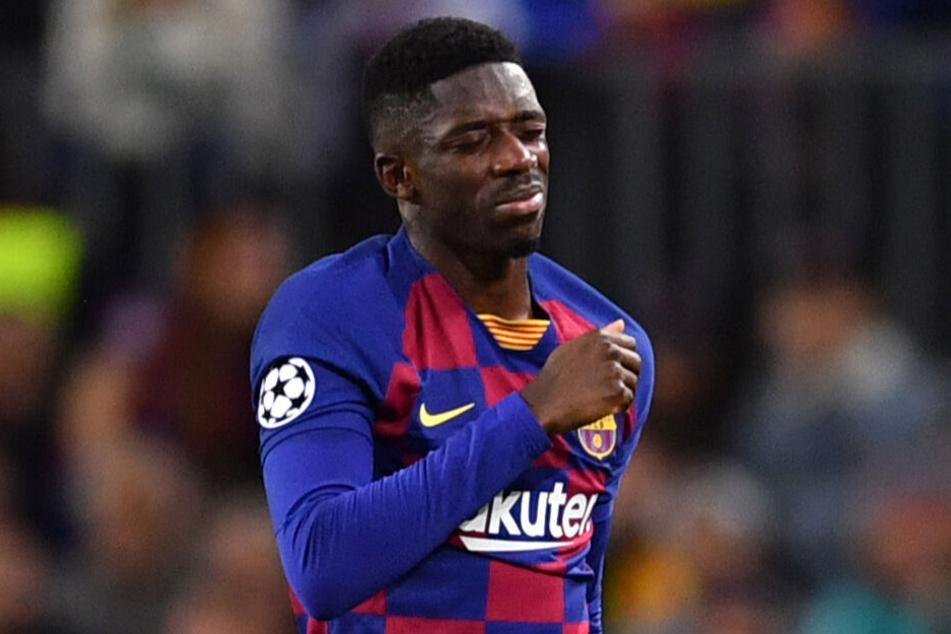 Verletzt musste Ousmane Dembélé vom Feld.