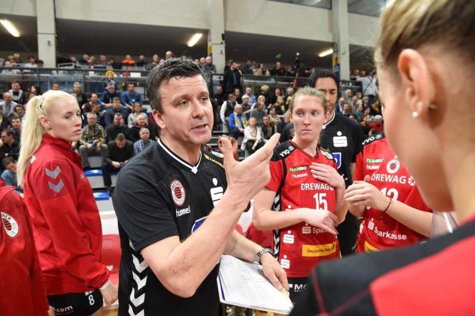 DSC-Trainer Alex Waibl war mit dem Ergebnis natürlich nicht zufrieden.