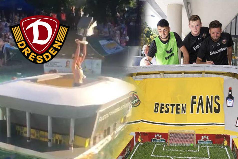 Handsigniert von allen Dynamos: Wer will diesen tollen Stadion-Nachbau?