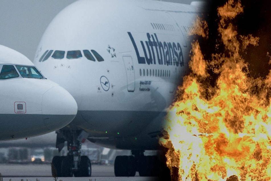 Feuer an Bord eines Lufthansa-Flugzeugs