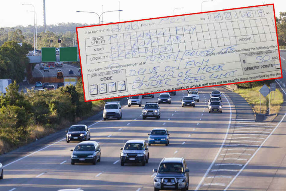 Autofahrer kassiert Strafzettel, aber nicht weil er zu schnell war
