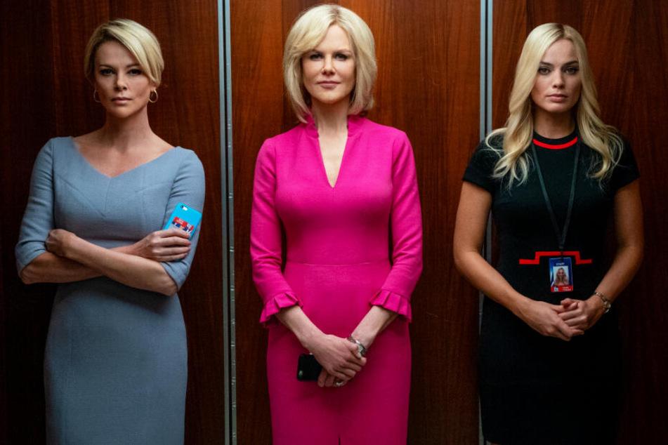 Von links nach rechts: Megyn Kelly (Charlize Theron), Gretchen Carlson (Nicole Kidman) und Kayla Pospisil (Margot Robbie) verbünden sich gegen Roger Ailes.