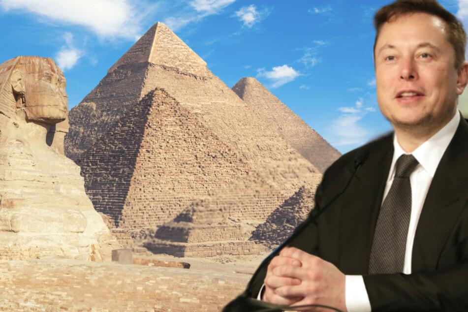Bizarre Theorie: Elon Musk glaubt, dass Aliens die Pyramiden gebaut haben