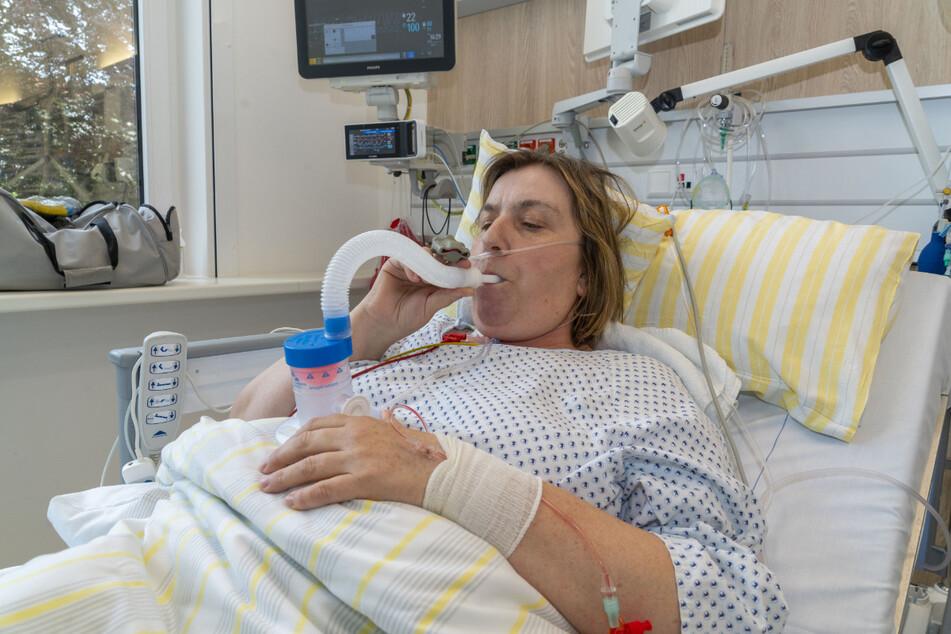 Nach ihrer überstandenen SARS CoV2-Infektion hat Jenny Fischer noch auf der Intensivstation damit begonnen, ihre durch die Erkrankung geschwächte Lunge zu trainieren.