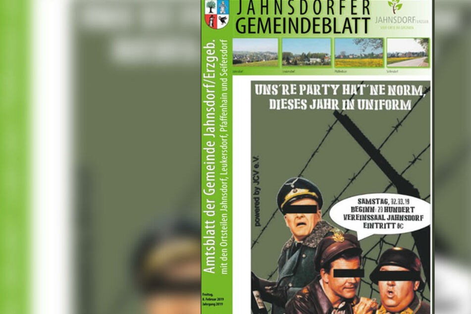Wirbel im Erzgebirge: Jahnsdorf lädt mit Nazi-Uniformen zum Karneval ein