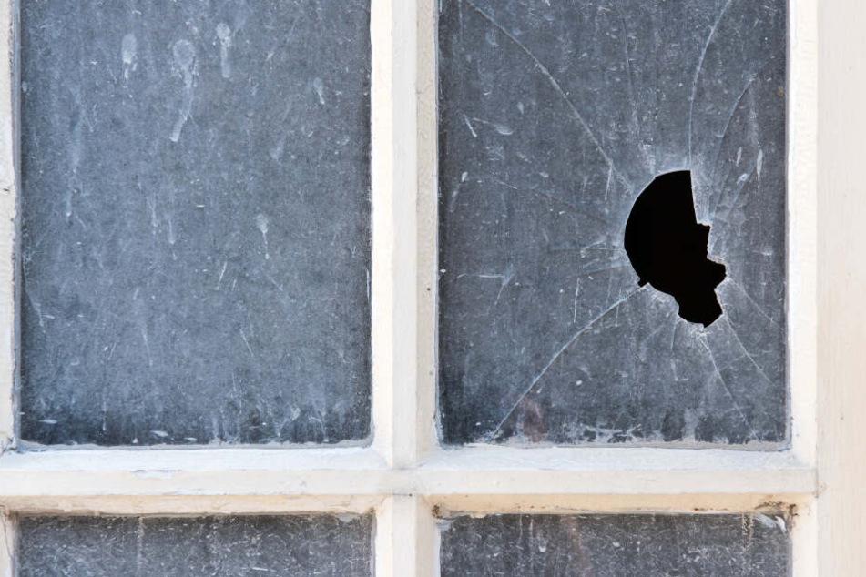Wurf-Attacken in Zwickau: 14 Fensterscheiben mit Steinen beschädigt