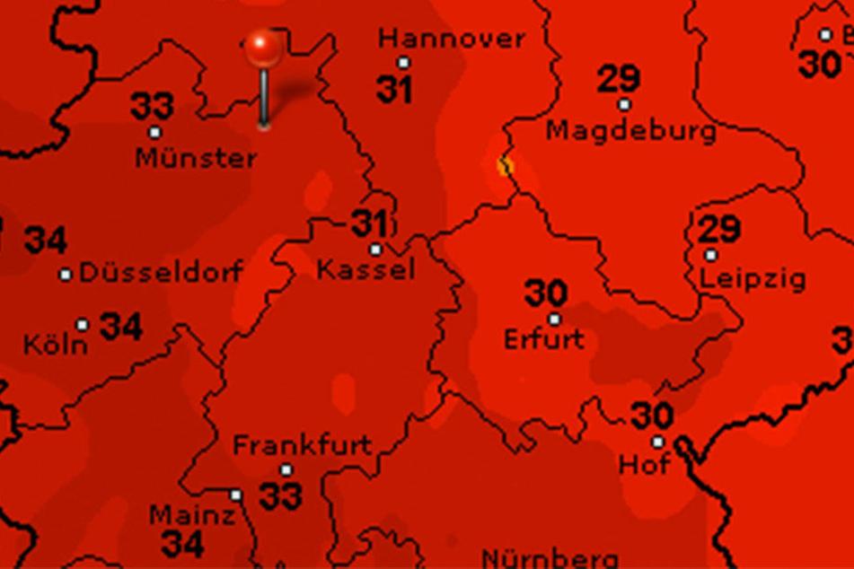 Es wird am Montag über 30 Grad warm in Ostwestfalen-Lippe.