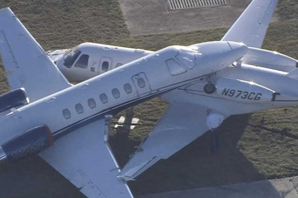Die beiden Cessna-Maschinen stießen auf dem Rollfeld zusammen.