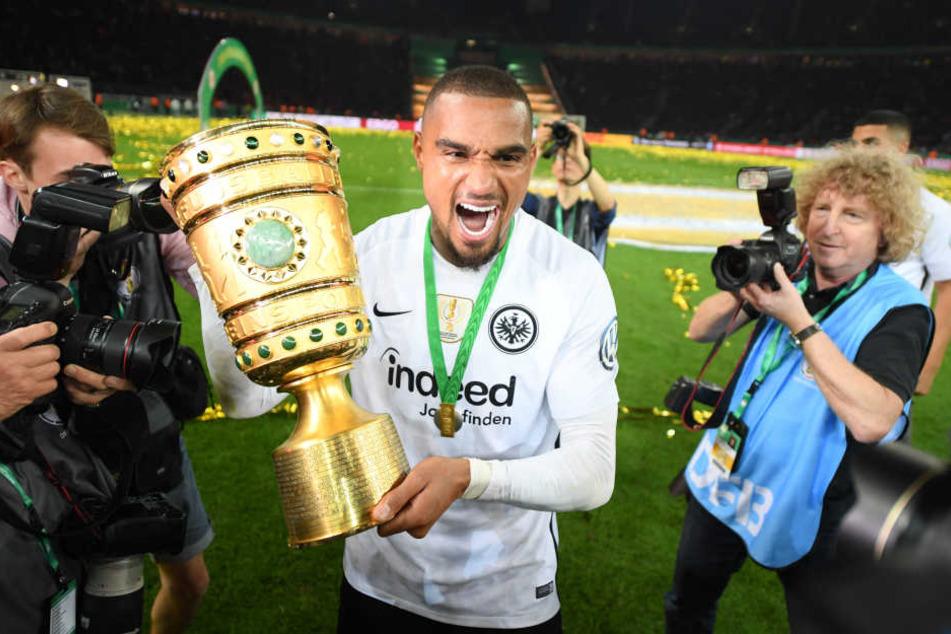 Bayern-Bezwinger: Mit der Eintracht holte Boateng im Mai 2018 den DFB-Pokal.