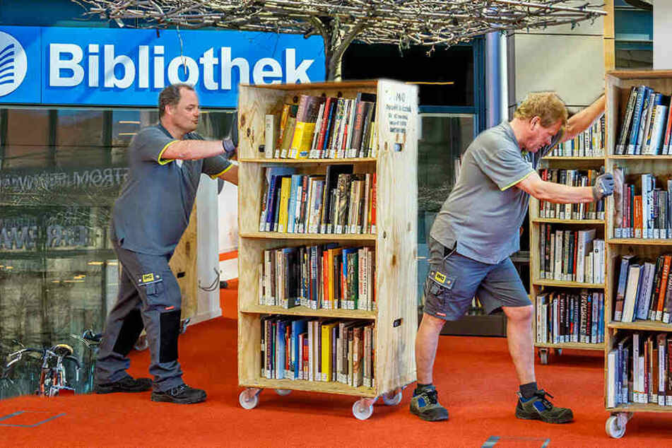 Neue Kulti-Bibliothek! Hier werden 200.000 Medien umgeräumt