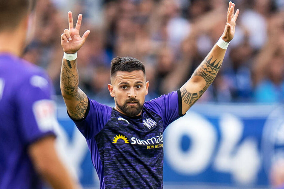 Marcos Alvarez führt die Torschützenliste der 2. Bundesliga an: In vier Spielen hat der Goalgetter vier Treffer erzielt. Gegen den KSC führte er den VfL Osnabrück mit einem Doppelpack zum Sieg.