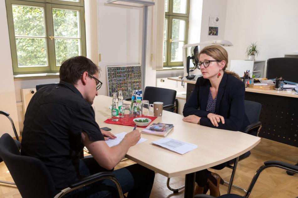 Annekatrin Klepsch im Gespräch mit Redakteur Dirk Hein, TAG24.