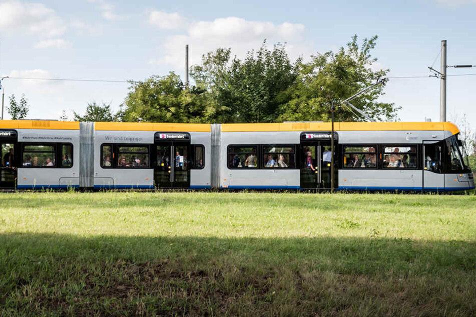 Die LVB testen die XL-Tram derzeit auf der Linie 4.