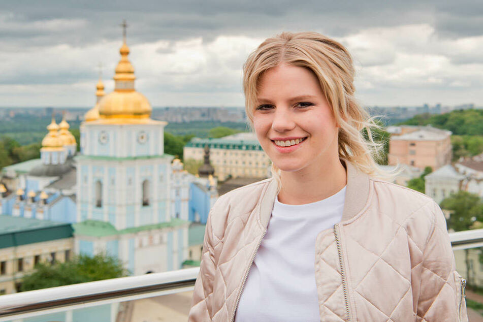 Zwischen Proben blieb der Sängerin ein bisschen Zeit Kiew zu erkunden.