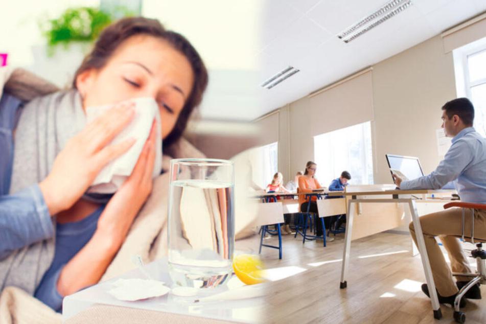 Während Beamte krank sind, gehen angestellte Lehrer arbeiten. (Symbolbild)