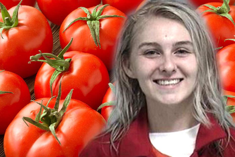 Katie Jade Gates (19) sah beim Familienessen Rot. Der Grund waren zu wenig Tomaten.