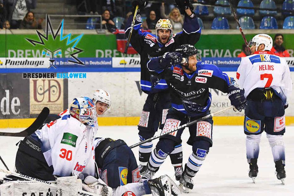 Sensation perfekt! Eislöwen stürzen Heilbronn und ziehen ins Viertelfinale ein