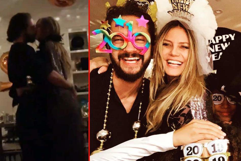 Heidi Klum knutscht und tanzt sich mit Tom Kaulitz ins neue Jahr, doch einer fehlt
