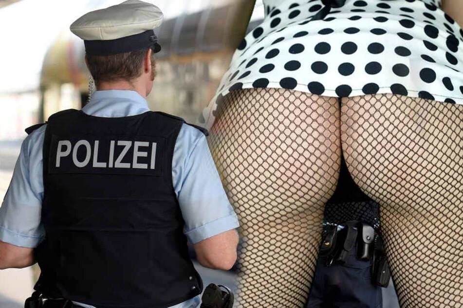 Da staunten die Beamten nicht schlecht: eine Frau (28) zog am Bahnhof Bernburg blank, streckte ihnen ihr nacktes Hinterteil entgegen. (Symbolbild)