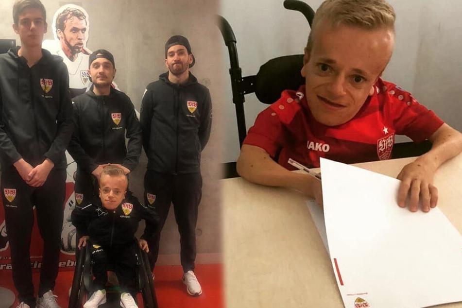 Niklas Luginsland (rechts im Bild) verlängerte im August seinen Vertrag beim VfB eSports, wo er Teil des Teams ist (links im Bild). (Fotomontage)